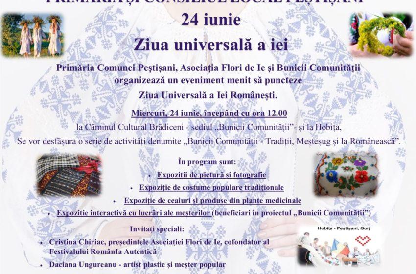 ZIUA UNIVERSALA A IEI – sarbatorita chiar AZI- 24.06.2020, la PESTISANI, Gorj