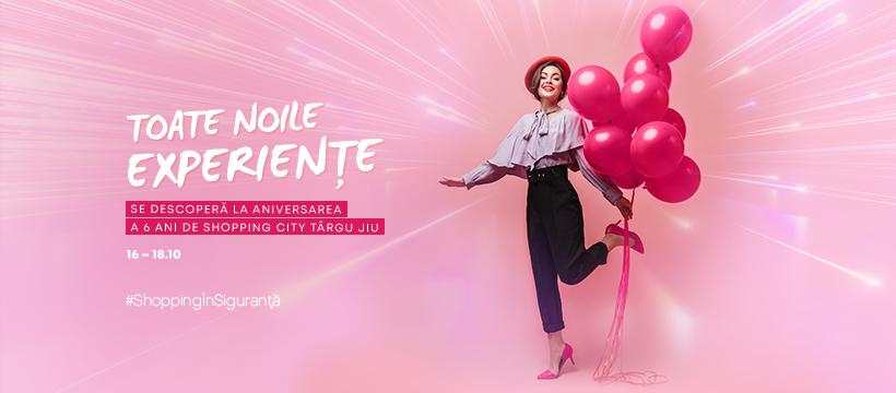 Shopping City Targu Jiu sarbatoreste 6 ani de la lansare, cu noi experiente si surprize dedicate clientilor